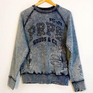 PRPS GOODS & CO. Destroyed Acid Washed Sweater
